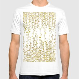 golden string of pearls watercolor T-shirt