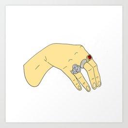 Harry Styles' Hand-- Simple Art Print