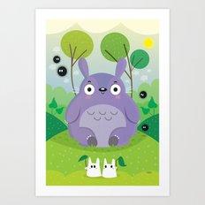 Cute neighbor Art Print