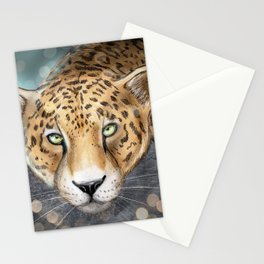 Snow, Leopard Stationery Cards