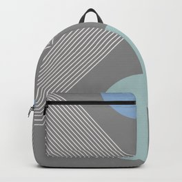Earth And Moon - Mid-Century Minimalist Backpack