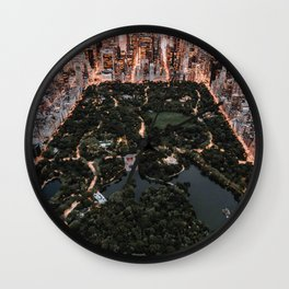 New York City Skyline and Central Park Wall Clock