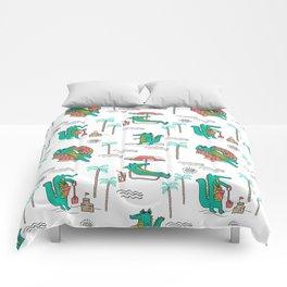 Alligator vacation tropical gator life palm beach socal florida gators Comforters