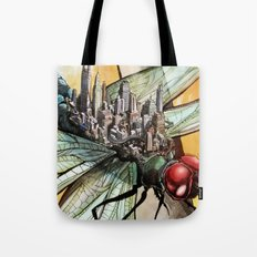 Dragonfly City Tote Bag