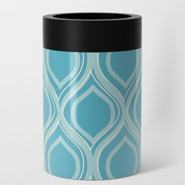 Abstract Turquoise Can Cooler