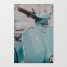 Mint Vespa  Canvas Print