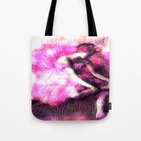 ballerina Tote Bags featuring Ballerina. by PureVintageLove