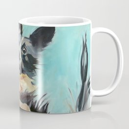 Let's Fly Border Collie Dog Portrait Coffee Mug