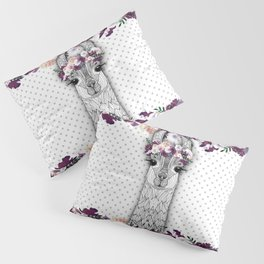 FLOWER GIRL ALPACA Pillow Sham