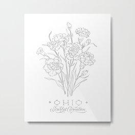 Ohio Sketch Metal Print