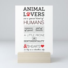 ANIMAL LOVERS Mini Art Print