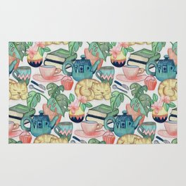 Lazy Afternoon - a chalk pastel illustration pattern Rug