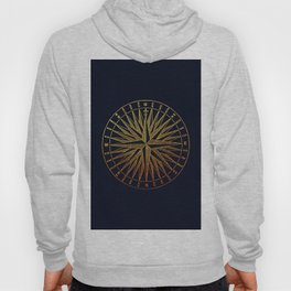 The golden compass- maritime print with gold ornament Hoody
