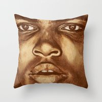 ali Throw Pillows featuring ALI by noblackcolor