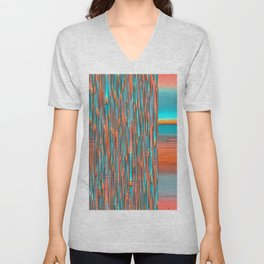 Interplay Of Warm And Cool Unisex V-Neck