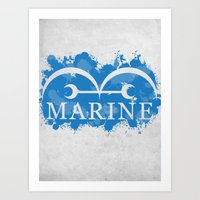 marine Art Prints featuring Marine by rKrovs