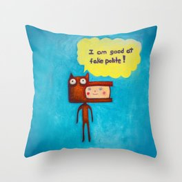 Wolfboy Throw Pillow