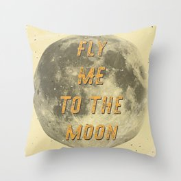 Fly me to the Moon - A Hell Songbook Edition Throw Pillow