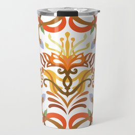 Vector Pattern Flowers Mandala Travel Mug