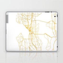 SEATTLE WASHINGTON CITY STREET MAP ART Laptop & iPad Skin