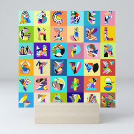 AMP Noise collage alphabet Mini Art Print
