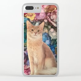 Cat with a Fluffy Tail Clear iPhone Case