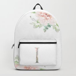 I - Floral Monogram Collection Backpack