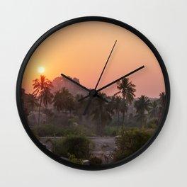 Sunrise at Hampi, India Wall Clock