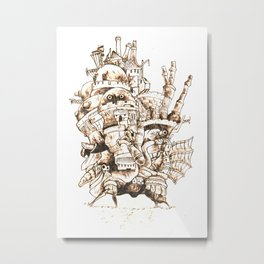 Howl's Moving Castle - Pyrography Metal Print