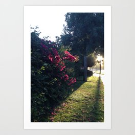The Light At The End Of The Sidewalk I Art Print