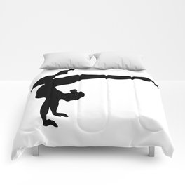 B&W Contortionist Comforters