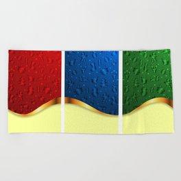 Christmas banners Beach Towel