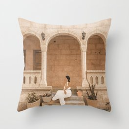 On the Steps Throw Pillow
