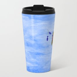 Orange guy diving in watercolor Travel Mug