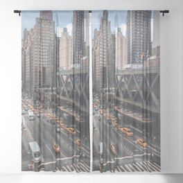 42nd Street Afternoon Sheer Curtain