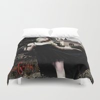 vampire Duvet Covers featuring Vampire by JackGrith