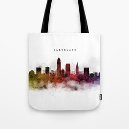 Cleveland Watercolor Skyline Tote Bag