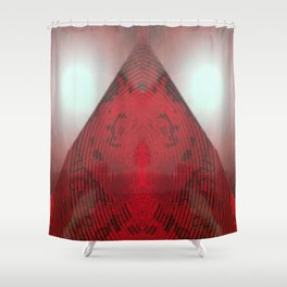 FX#412 - Red Pyramid Bright Shower Curtain