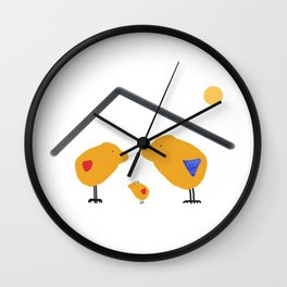Sunny Family Sweet Home and Girl Wall Clock
