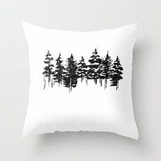 Old Pine Throw Pillow
