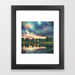 skies. Framed Art Print