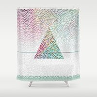 confetti Shower Curtains featuring CONFETTI by Kath Korth