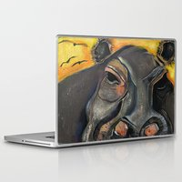 hippo Laptop & iPad Skins featuring Hippo by Amy Wicherski