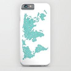World Map - Polkadot Atlas (Cyan) Slim Case iPhone 6s