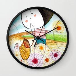 collecting sunshine ( u line it, i form it) Wall Clock