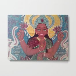 LAKSHMI-Goddess of Prosperity Metal Print