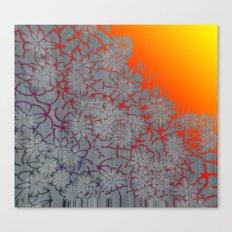Radient Etched Flowers Canvas Print
