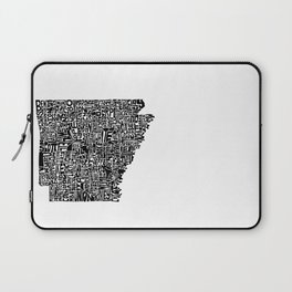 Typographic Arkansas Laptop Sleeve
