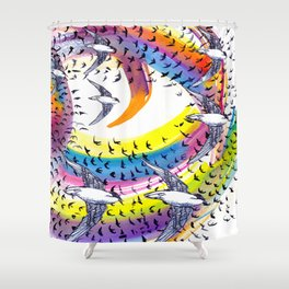 Spin and Spin Shower Curtain