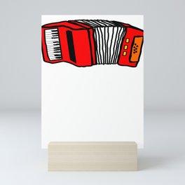 Music Accordian Go For Polk Polka Music Mini Art Print